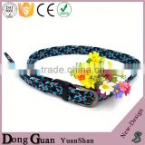 2016 hot sale personalized needlepoint belt fabric canvas belts for outdoor unisex colorful silicon