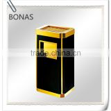 Stainless steel waste bin hotel room, ash bin