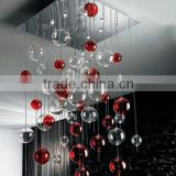 Modern Chandelier Colorful Glass Ball Pendant Hanging Lamp Light Lighting for Home Interior Decor CZ9095/8