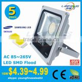 meanwell driver 5 years warranty cheap price slim style ip66 ip65 waterproof 20w rgb led flood light