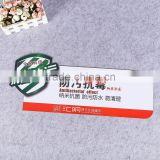 souvenir pvc plastic blister card display card tag plastic poster with custom logo