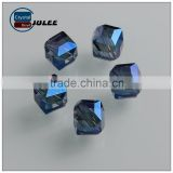 Pujiang factory Inclined hole cube shape glass beads 10mm lampwork loose crystal beads with chandelier lighting