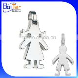 Wholesale fashion 925 sterling silver&stainless steel baby girl pendant