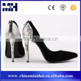 Sexy Black Stiletto Evening Party Snake High Heel Ladies Shoes Women