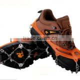 Camping Equipment china portable outdoor 8/10/12/14/18 tines teeth silicone rubber climbing snow shoes ice crampons