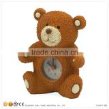 Resin Bear Figurines Wholesale Mini Clocks