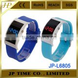 2014 silicone bracelet watch led watch unisex arc case stainless steel caseback gift led
