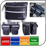 Wholesale Logo Customized 600D Durable Waterproof Leather Big Capacity Top Tube Cycling Bag