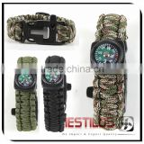 Paracord Survival Bracelet With Fire Starter Buckle And Compass                                                                         Quality Choice                                                     Most Popular