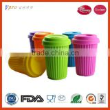 Heat resistant collapsible silicone rubber cup