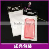 printing header poly bag white plasic bag with zipper clear mobile case plastic zipper bags with hanger