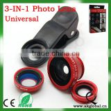 3 in 1 Fisheye Lens and Wide Angle and Micro Lens Photo Kit Set for iPhone5S iPhone5C iPhone 4 4S 5 Galaxy S2 S3 S4 Note 1 2