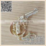 Best Quality Best Crystal Gold Gun Shaped Pendant Keychain
