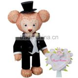 3D wedding favors decoration bear bride and groom cardboard figurines model