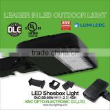 30% lighter than aluminum housing magnesium alloy housing body 60W led parking lot lighting with DLC UL cUL listed