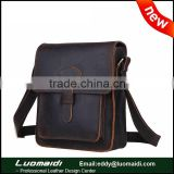 New arrival crazy horse leather men business briefcase bag ,high quality trendy men messenger bag