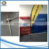 tear drop flying banner stand, telescopic banner stand, China Popular Portable Tear Drop Shape Flag Pole with Classic Crossing