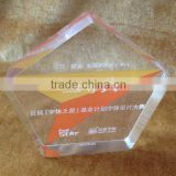 Etched 20mm Acrylic Star Shaped Award & Plaque For Souvenir Holder