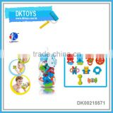 RATTLE FOR BABYS 9 PCS IN THE BLUE BOTTLED