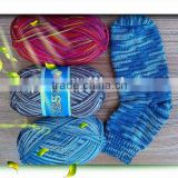 75% superwash wool 25%nylon classic sock yarn hand knitting yarn