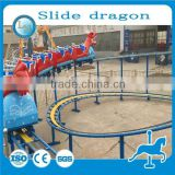 LINORIDES 20 seats slide dragon roller coaster! Amusement rides mini electric track train for sale