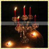 Handmade Exquisite Tall Crystal Glass Wedding Candelabras Centerpiece For Wedding Table Decoration
