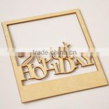 wood veneer frame, wooden flourish scrapbooking card craft embellishments