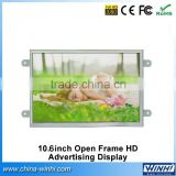 HD Advertising Display lcd tv portable video player new advertising product 10 inch open frame lcd monitor