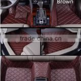 high quality 5D Full Surrounded soundproof XPE material Car Floor Mats for Audi A6 with PU leather and Custom Fit