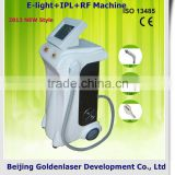 2013 New design E-light+IPL+RF machine tattooing Beauty machine iron cosmetological set mould