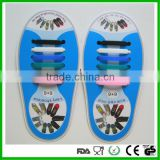 2016 creative colorful shoe laces no tie elastic silicone shoelaces