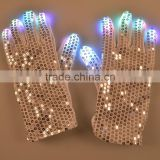 rave and club dance Shuffle costume Sequin LED Flashing Gloves