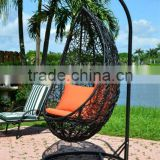 2017 Trade Assurance New design woven rattan wicker outdoor egg shaped chairs