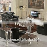 foshan craft stainless steel marble top coffee table B2132-3