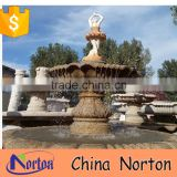 outdoor granite lady garden fountain with swan statue NTMF-S517S
