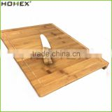 Bamboo Chopping Block Board with Groove/Food Safe Bamboo Cutting Board/Homex_FSC/BSCI Factory