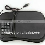 multifuncation mouse pad hub with numeric keypad