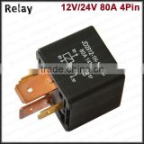 auto relay 12V 24V 80A auto 80a relay waterproof relay car electrical relay