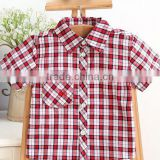 2015 Summer Boy's Short Sleeve Shirts Children Checked Shirts Latest Styles of Boys Shirt Blouse