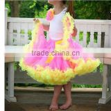 2014Hot Sale!Multicolors Lovely Baby Girls Fluffy Chiffon Pettiskirts Fashion Girl's Multi Colors Pettiskirts