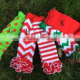 free shipping baby chevron chirstmas leg warmer with cotton ruffle zig zag leg warmers ruffled leg warmer