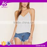 2016 guangzhou shandao oem service summer new design casual chiffon plain dyed sleeveless women designer western tops images