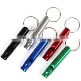 Aluminum Alloy Whistle Keyring Keychain Mini For Outdoor Emergency Survival Safety Sport Camping Hunting Multi Color