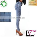 cotton cheap women knitted denim fabric for the jean material of blue jeans fabric,pants and jacket