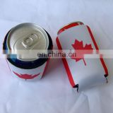 Colorful Wholesale Folding Freezable BBQ Collapsible Printed Summit 330ml 12oz Neoprene SBR Rubber Foam Beer Can Holder