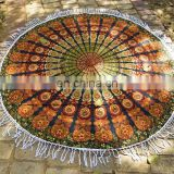 Indian Beautiful Round Tapestry Blue Mandala Roundie Hippy Boho Gypsy Dorm Picnic Pad Table cloth