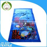 100% cotton promotional reactive printed stock beach towel