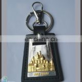 Factory Price Promotional Souvenirs Custom Handmade leather keychains