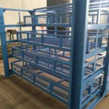 Advanced draw-out type steel shelves