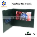 "5"" LCD video card for promotion/advertising/festival greeting"